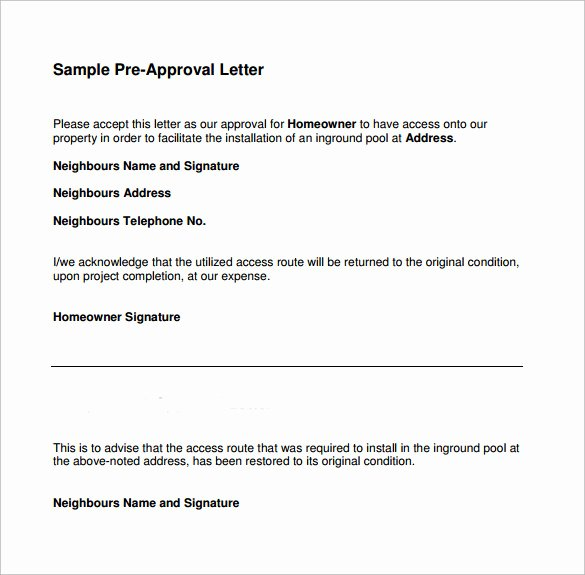 Mortgage Pre Approval Letter Template Inspirational Pre Approval Letter 8 Download Free Documents In Word Pdf