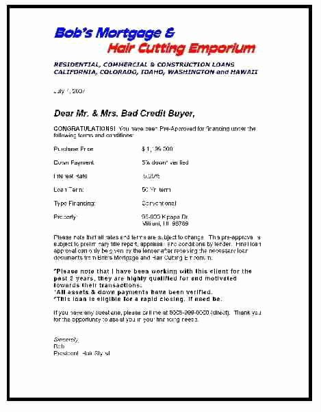 Mortgage Pre Approval Letter Template New Screening Pre Approval Letters From the Lenders