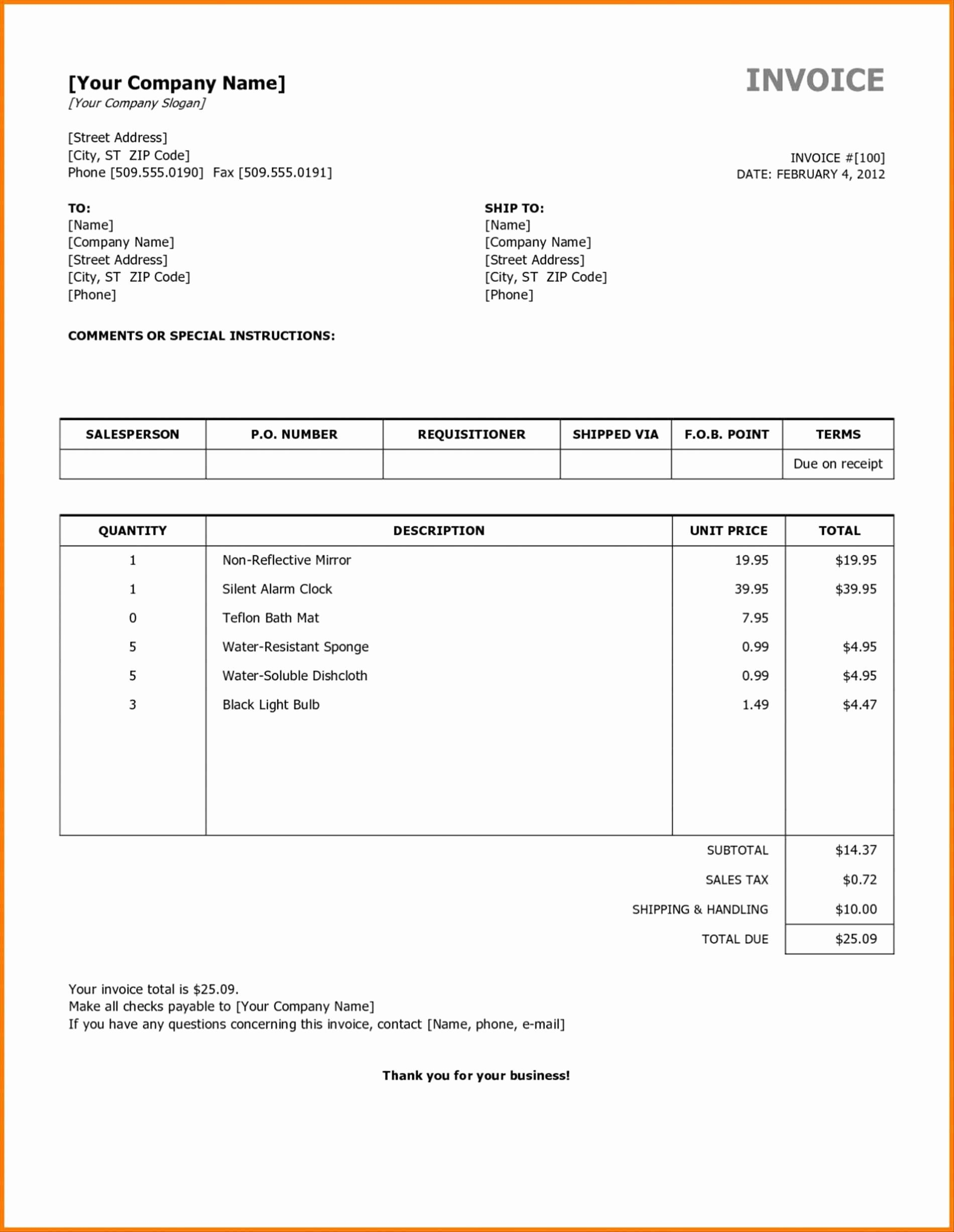 Motel 6 Receipt Template New Hotel Bill format In Excel Free Download Free Template