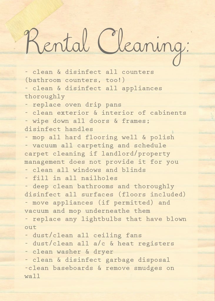 Move Out Cleaning Checklist Template Elegant Download the Domestic Four Move Out Rental Cleaning List
