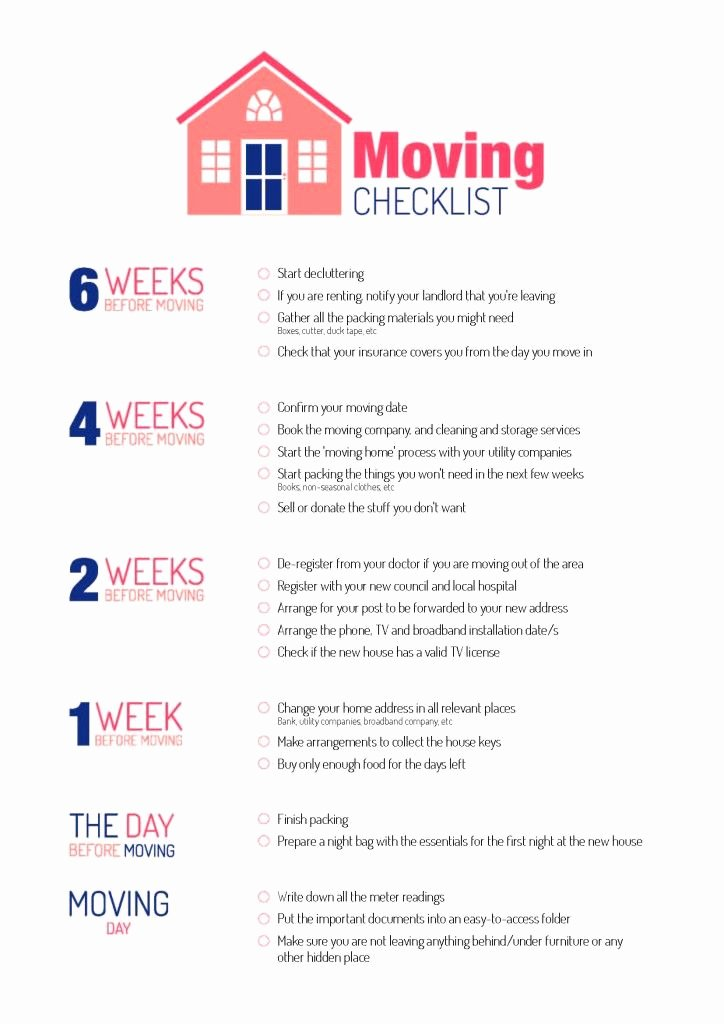 Move Out Cleaning Checklist Template Lovely Checklist for Moving House Moving Made Easy
