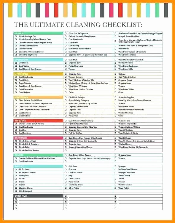 Move Out Cleaning Checklist Template Luxury Residential Cleaning Checklist Template – Jewishhistoryfo