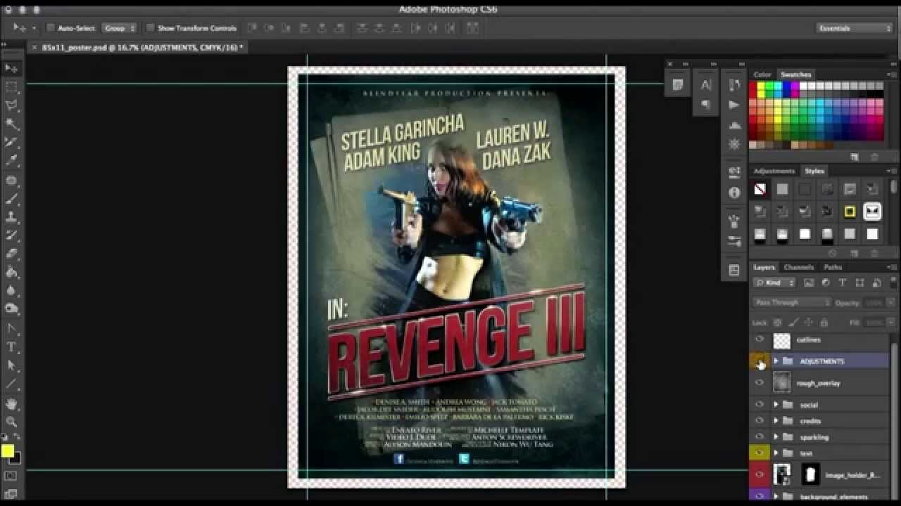 Movie Poster Design Template Best Of Movie Poster Design In Photoshop Use This Premade