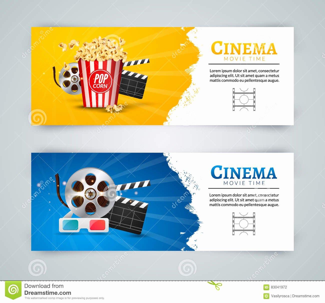 Movie Poster Design Template Inspirational Cinema Movie Banner Poster Design Template Clapper