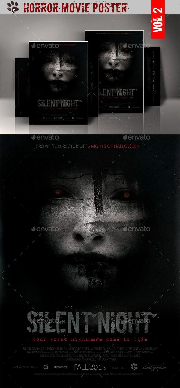 Movie Poster Design Template Inspirational Horror Movie Poster