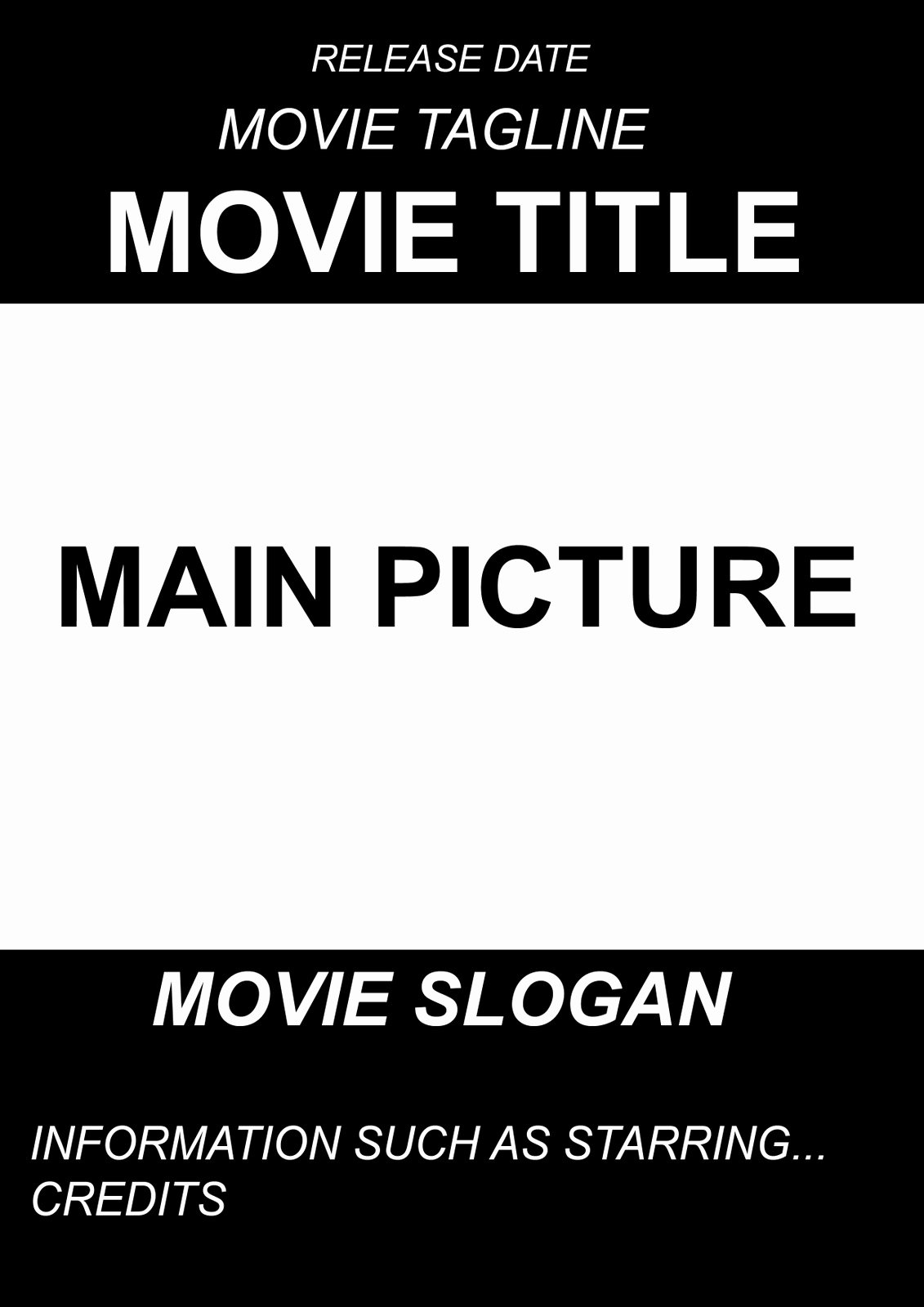 Movie Poster Design Template Lovely A2 Advanced Portfolio Ancillary Project Movie Poster