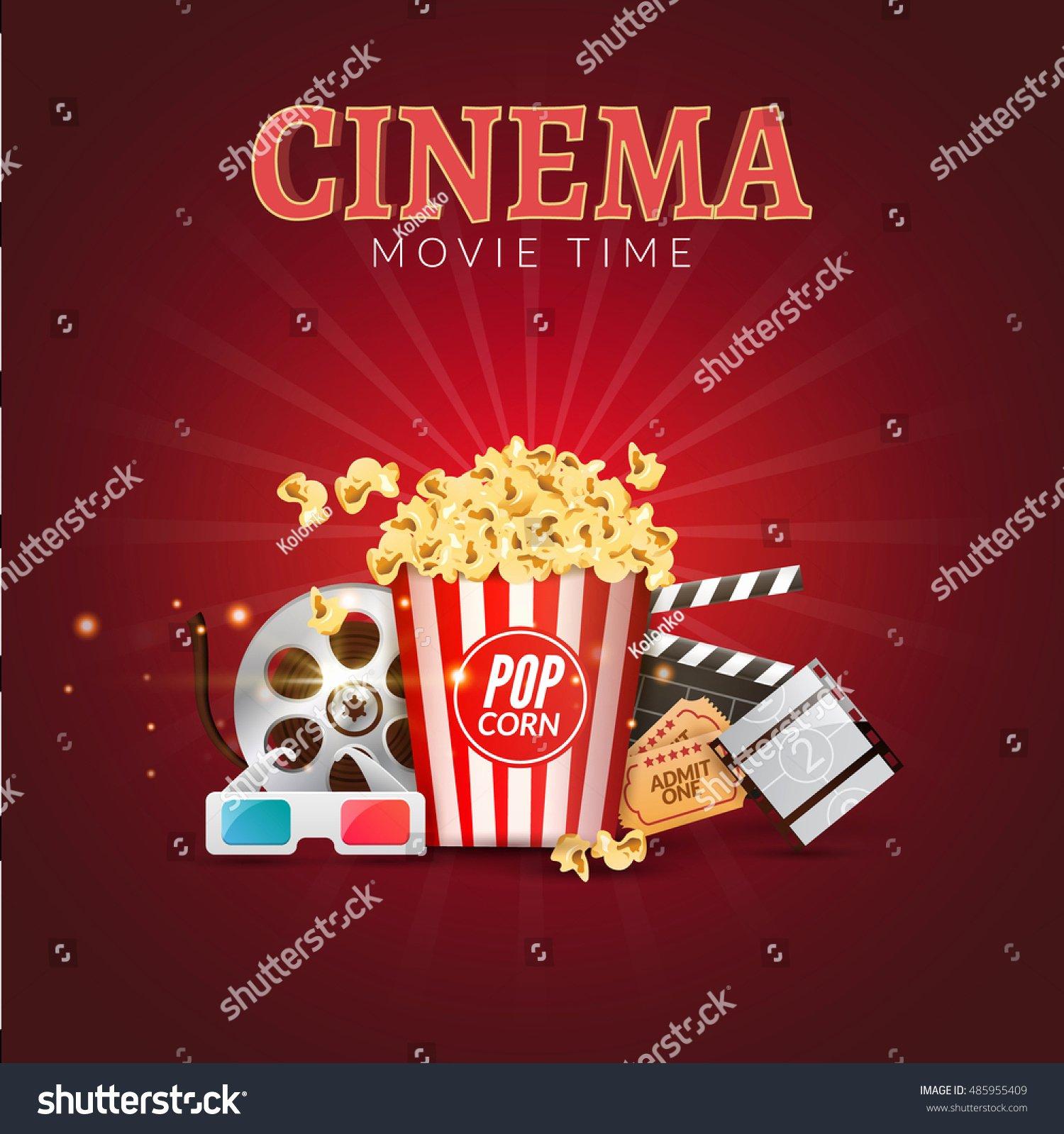 Movie Poster Design Template Lovely Cinema Movie Vector Poster Design Template Stock Vector