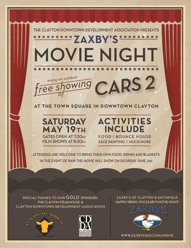 Movie Poster Design Template Lovely Movie Night Poster Google Search