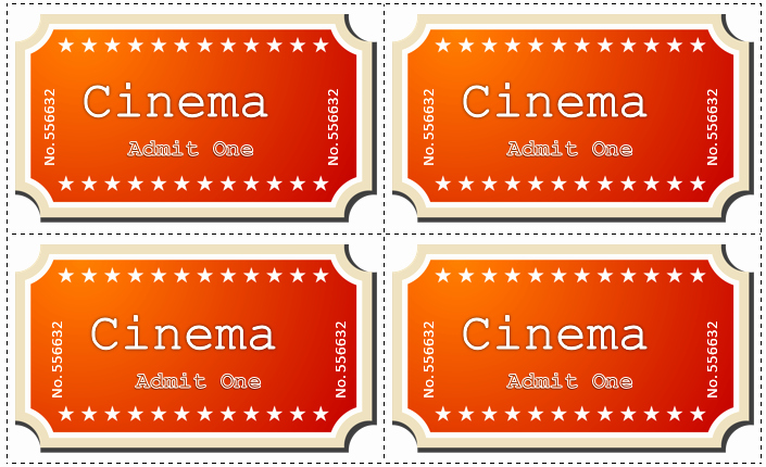 Movie Ticket Template for Word Awesome Movie Ticket Template 5 Free Printable Templates Word