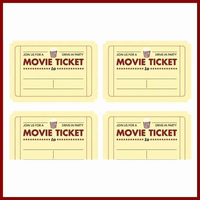 Movie Ticket Template for Word Beautiful Blank Ticket Templates – Takesdesign