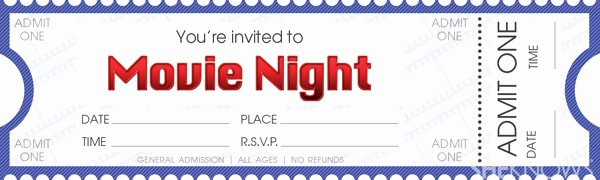 Movie Ticket Template for Word Beautiful Make Your Own Movie Night Tickets