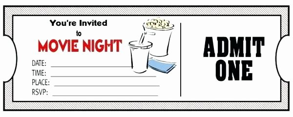 Movie Ticket Template for Word Beautiful Printable Movie Ticket Templates Invitation Template Free