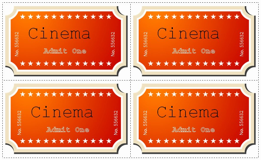 Movie Ticket Template for Word Elegant 30 Free Movie Ticket Templates Printable Word formats