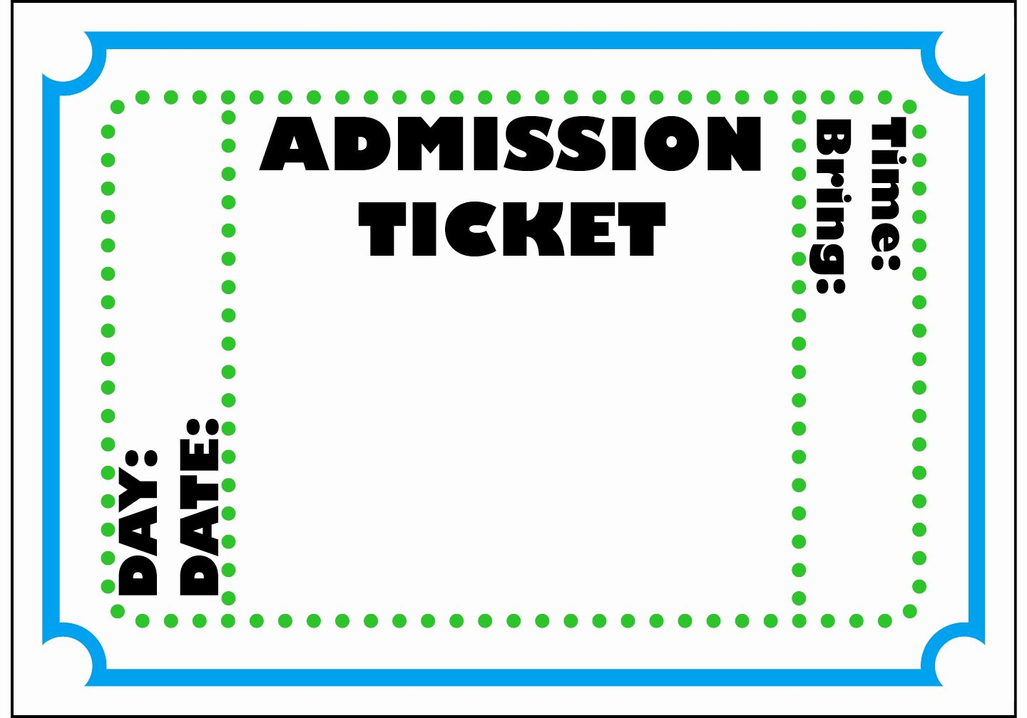 Movie Ticket Template for Word Elegant Admit E Ticket Template Example Mughals