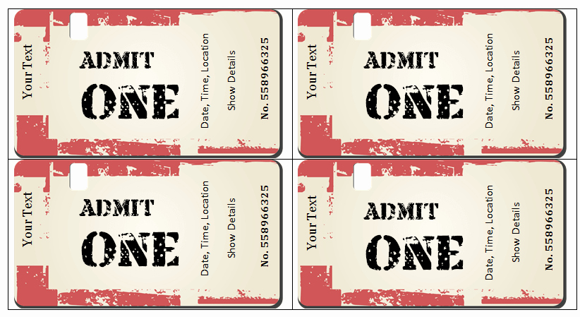 Movie Ticket Template for Word Fresh 6 Ticket Templates for Word to Design Your Own Free Tickets