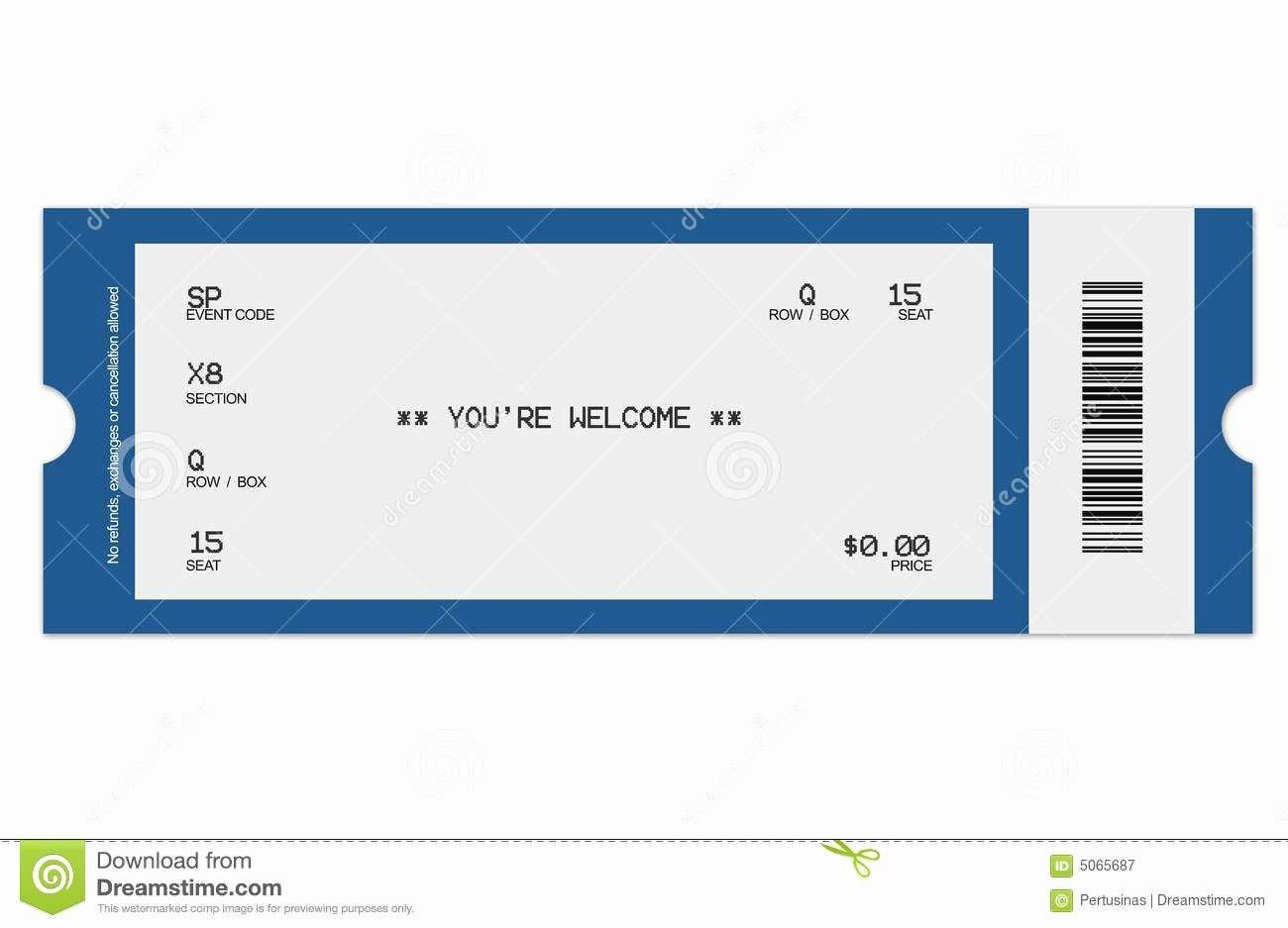 Movie Ticket Template for Word Inspirational Unique Free Printable Raffle Ticket Template Download