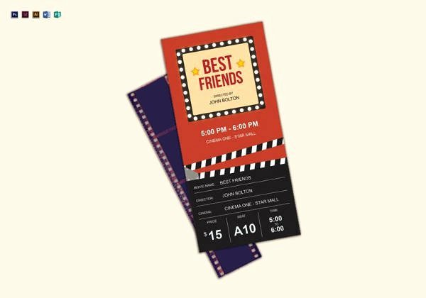 Movie Ticket Template for Word New 16 Movie Ticket Templates Psd Ai Word