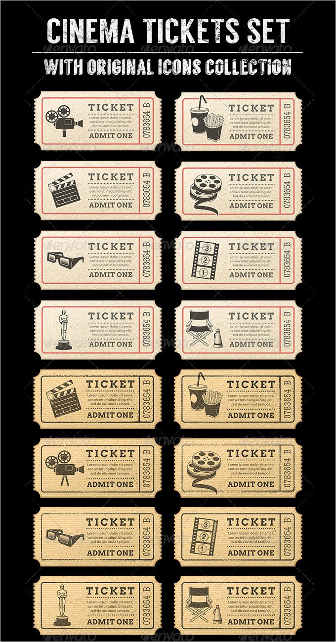 Movie Ticket Template for Word Unique 16 Movie Ticket Templates Psd Ai Word