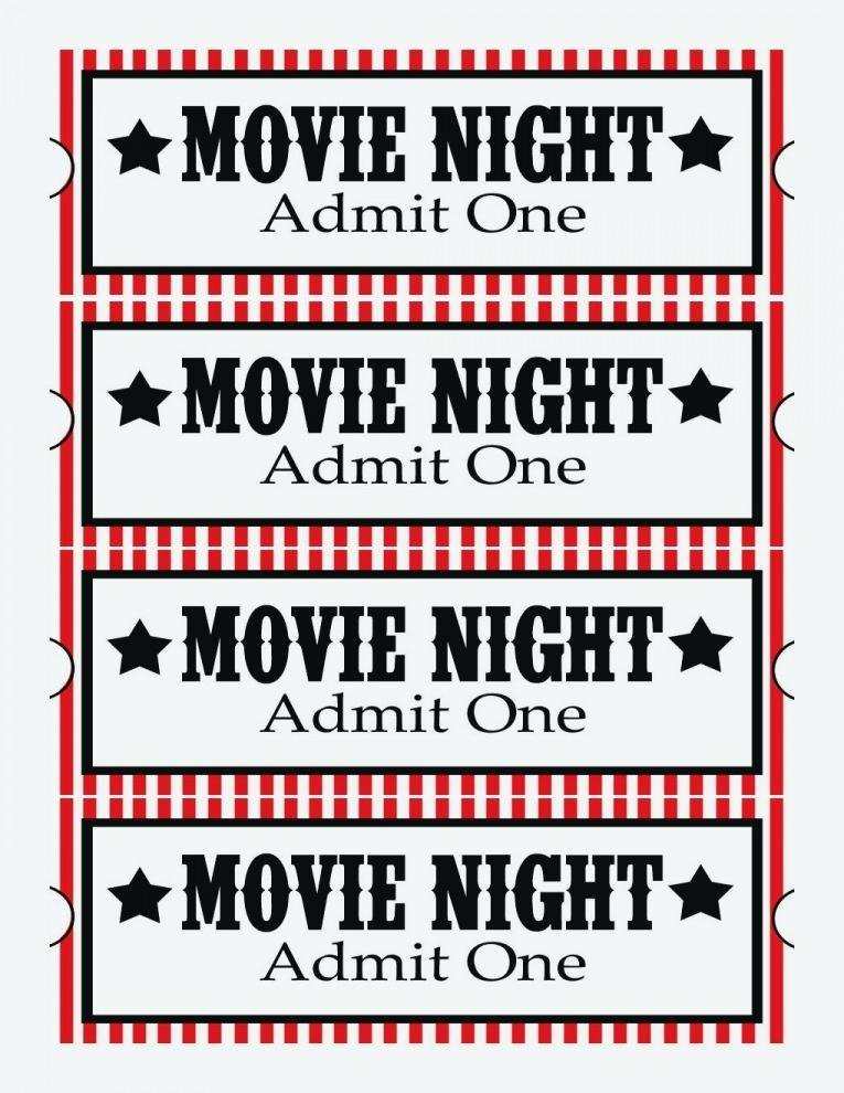 Movie Ticket Template for Word Unique Admit E Ticket Template Free Printable Microsoft Word