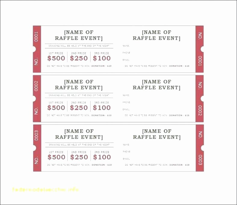 Movie Ticket Template for Word Unique Fundraiser Ticket Templates Free Printable Raffle Tickets