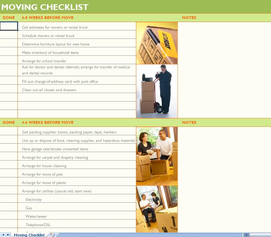 Moving Checklist Printable Template Awesome Moving Checklist Moving Day Pinterest