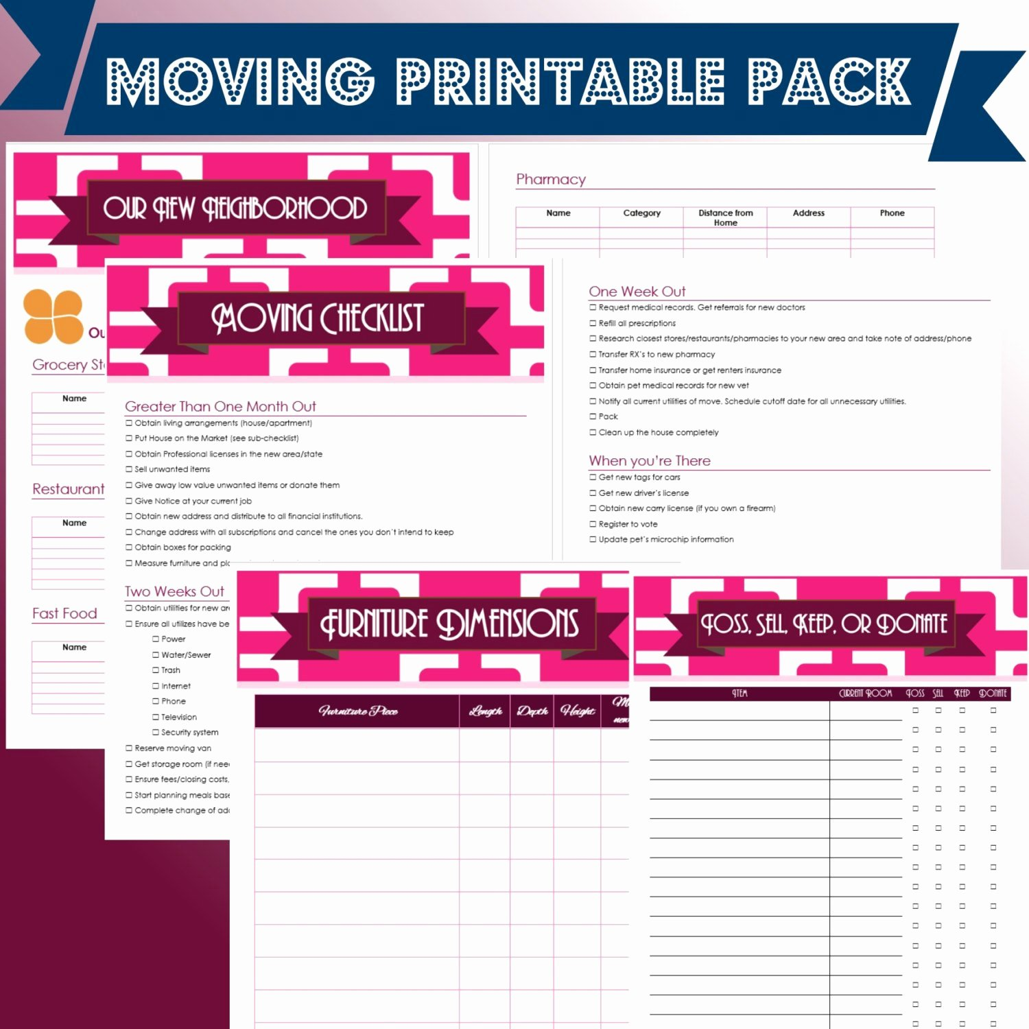 Moving Checklist Printable Template Beautiful Moving Planner Printable Pack Instant Download Word