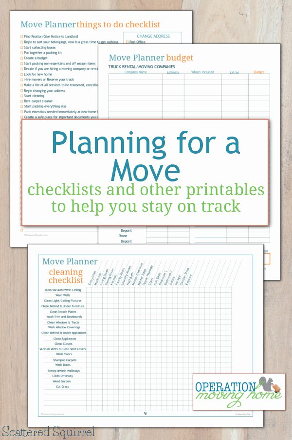 Moving Checklist Printable Template Best Of More Move Planner Printables to Help You Stay On Track