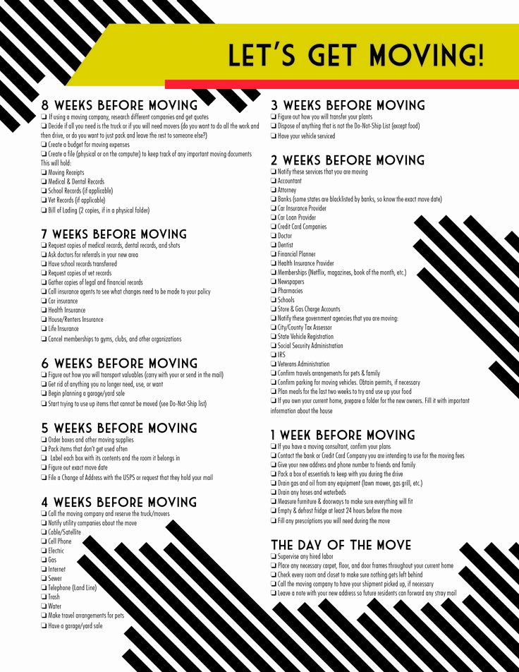 Moving Checklist Printable Template Inspirational 17 Best Ideas About Moving Checklist Printable On