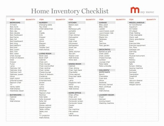 Moving Inventory List Template Fresh Lots Of Helpful Moving Tips Home Inventory Checklist