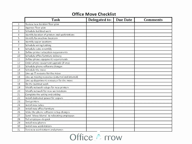Moving Office Checklist Template Beautiful Fice Move Checklist Excel Home Moving Checklist Excel