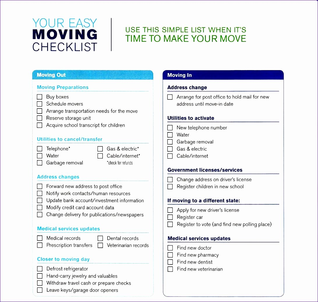Moving Office Checklist Template Elegant Fice Move Checklist Template Excel Neorx Beautiful 5
