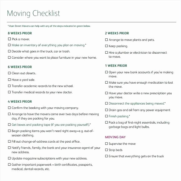 Moving Office Checklist Template Fresh Internal Fice Move Checklist Template Excel Fresh