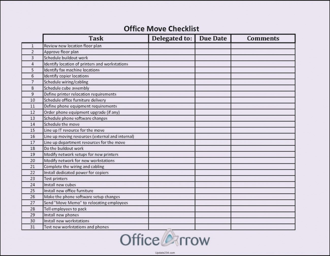 Moving Office Checklist Template Fresh Seven Facts About Fice