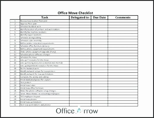 Moving Office Checklist Template Inspirational Business Moving Checklist – Tsurukame
