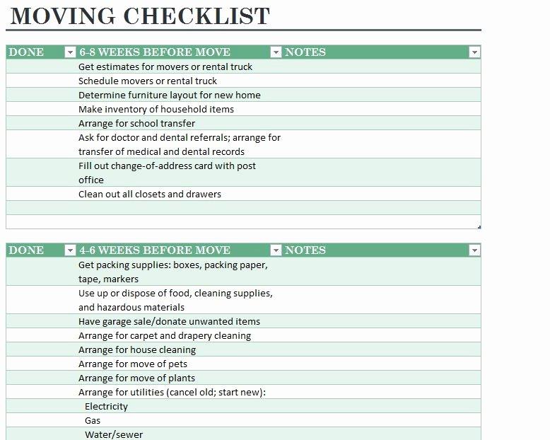 Moving Office Checklist Template Unique Home Moving Checklist