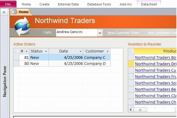 Ms Access 2007 Template New Download northwind Microsoft Access Templates and Access