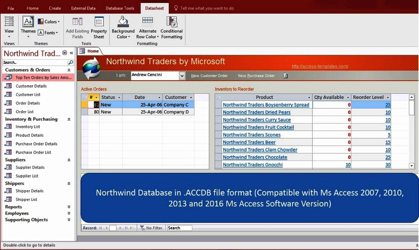 Ms Access 2007 Template Unique Ms Access northwind Database for Microsoft Access 2016