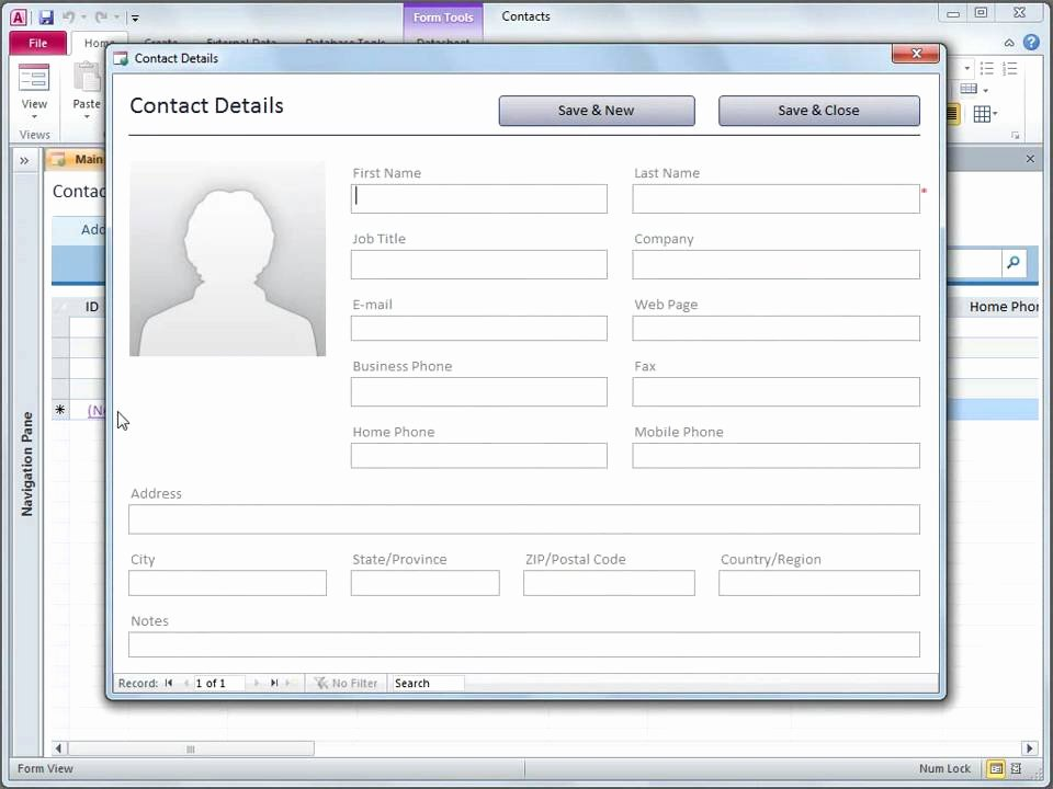 Ms Access Customer Database Template Inspirational Access 2010 Use the Contacts Web Database Template