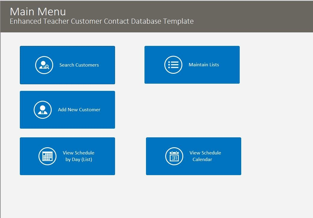 Ms Access Customer Database Template Luxury Microsoft Access Enhanced Customer Contact Database Template
