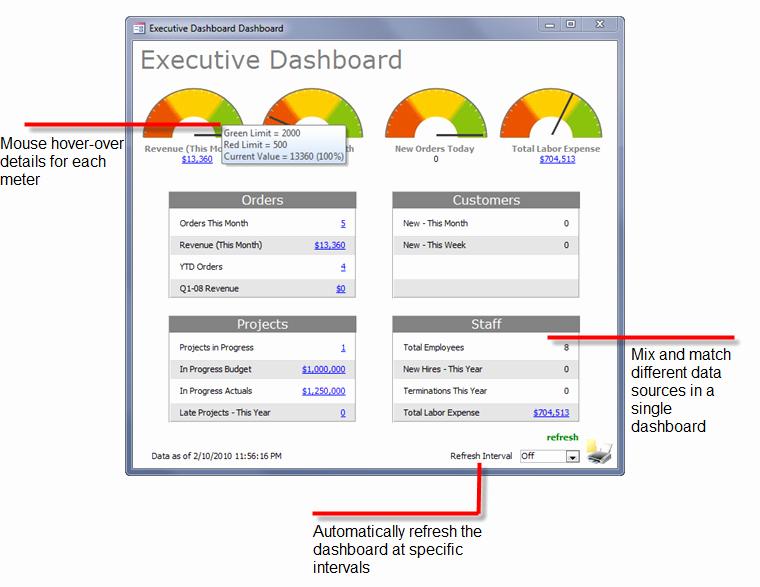 Ms Access Dashboard Template New Microsoft Access Data Dashboards