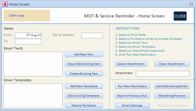 Ms Access Dashboard Template New Screenshots Of Access Database Menu forms