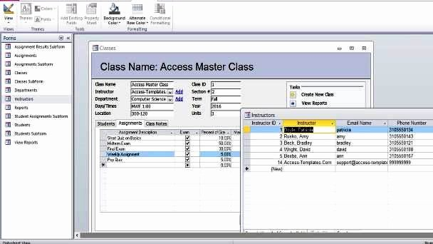 Ms Access Database Template Best Of Microsoft Access Student Database Templates for Microsoft