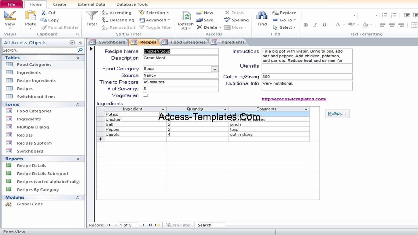 Ms Access Database Template Elegant Access Database and Templates