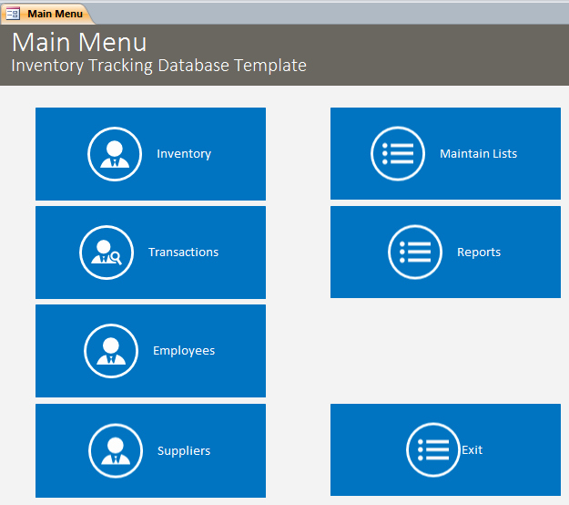 Ms Access Inventory Template Beautiful Inventory Database Template