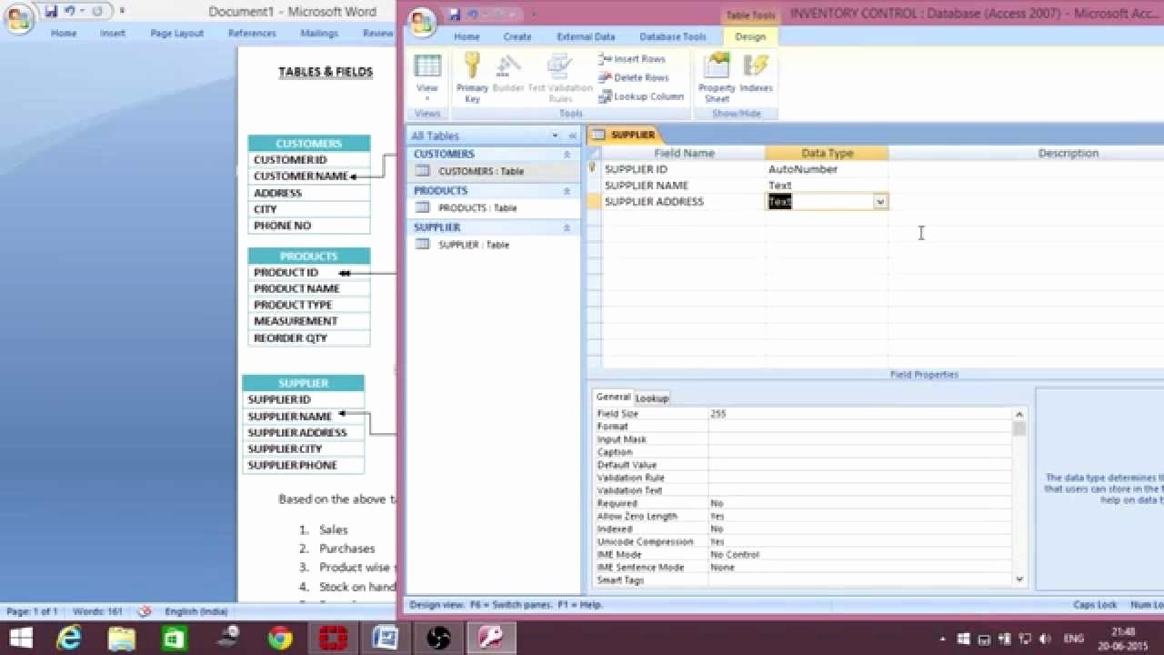 Ms Access Inventory Template New Ms Access Inventory Management Database Creation Telugu