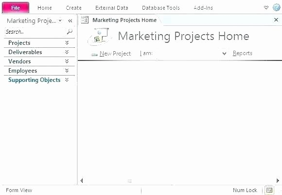 Ms Access Project Management Template Elegant Database for Moving Pany Customers Access Templates
