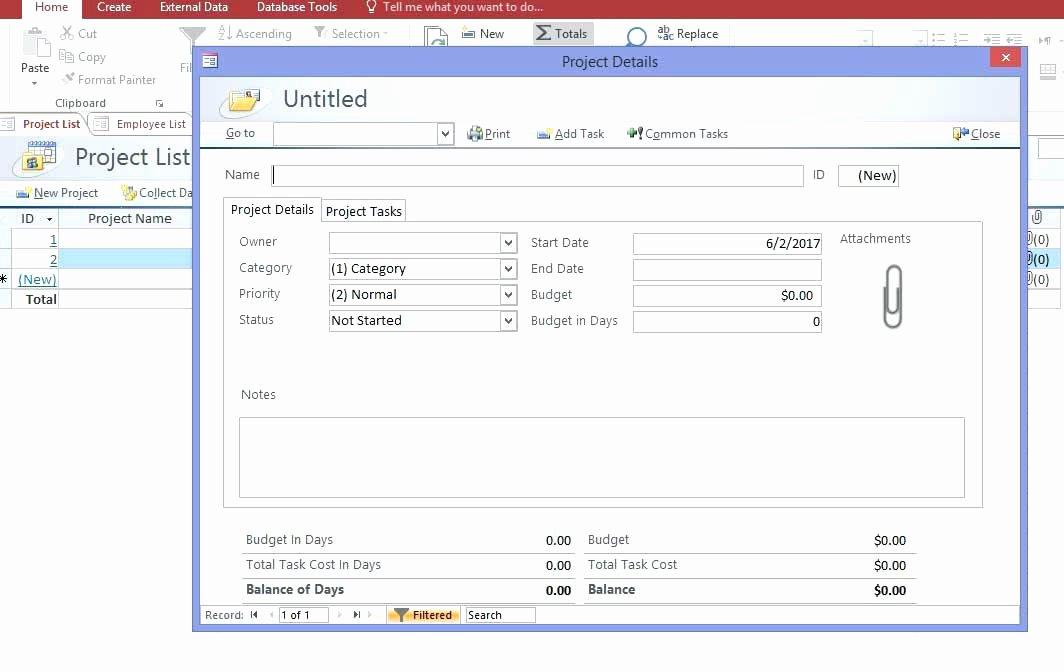 Ms Access Project Management Template Unique Lovely Access 2016 Project Management Template Microsoft