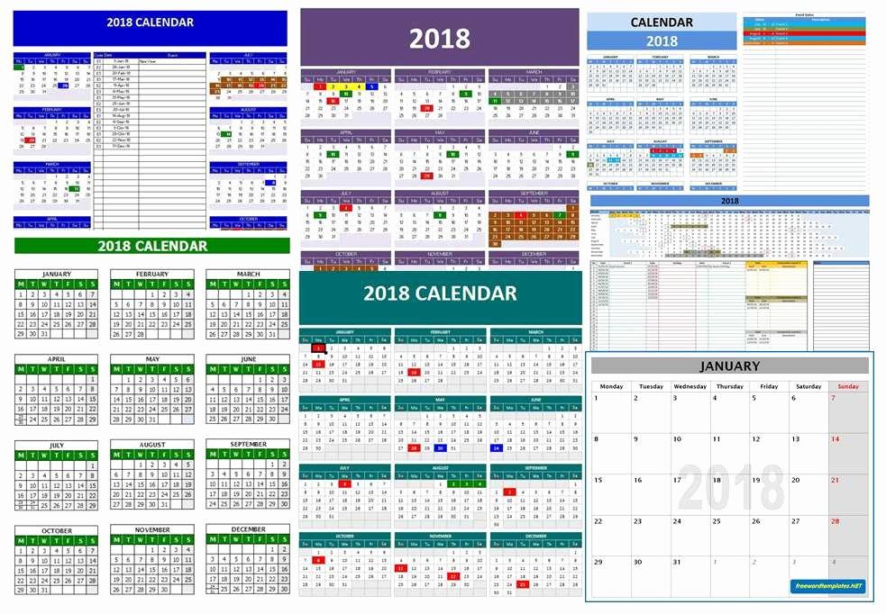 Ms Office Schedule Template Luxury 2018 Calendar Templates