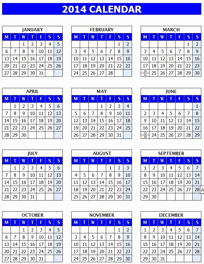Ms Office Schedule Template New Microsoft Calendar Template 2014