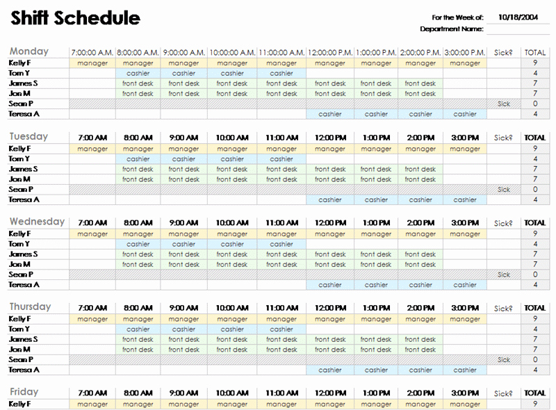 Ms Office Schedule Template Unique Microsoft Office Work Schedule Template Weekly Work